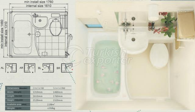 Unit Bathroom BM-1316